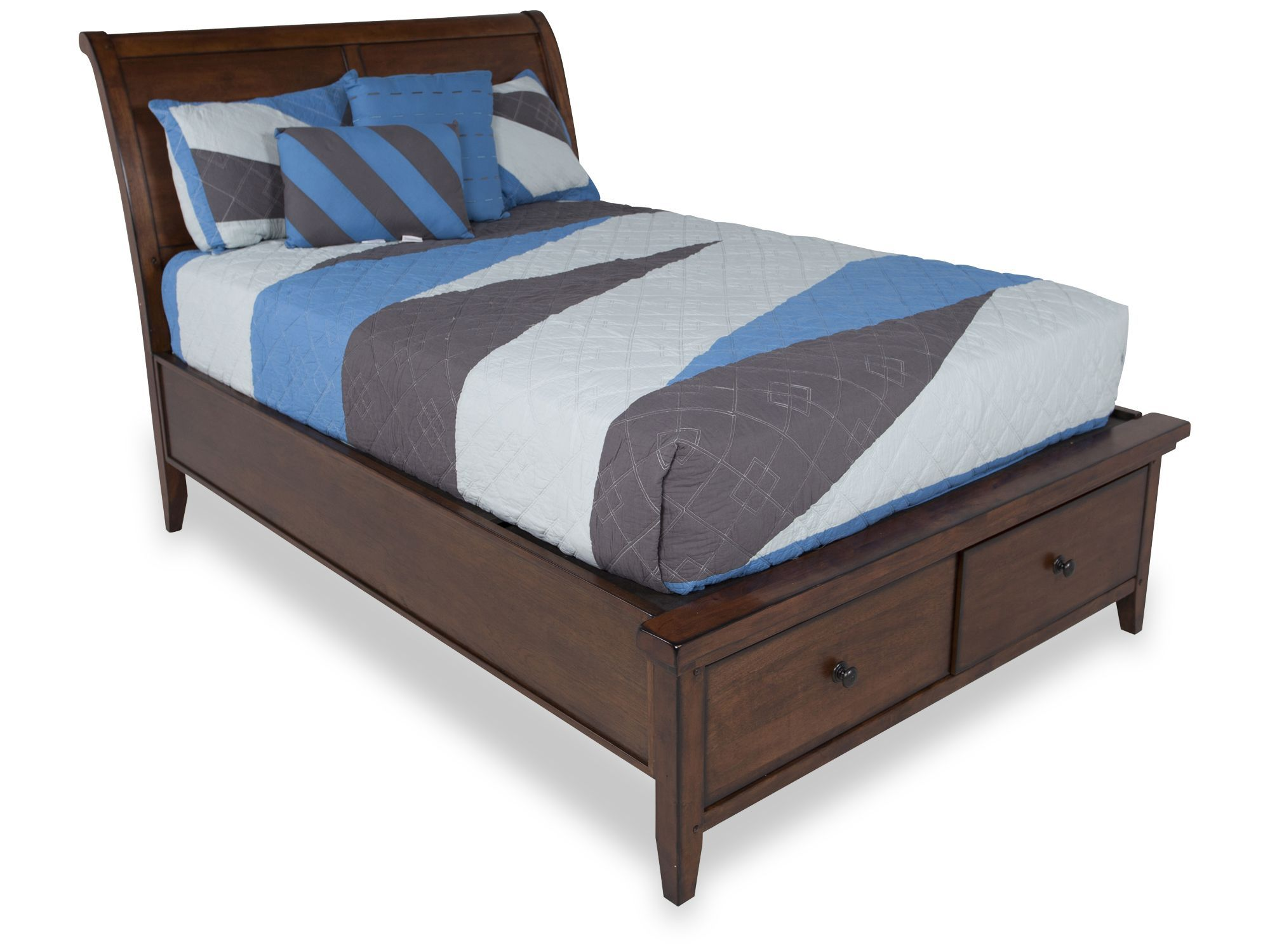 Aspen Cross Country Full Sleigh Storage Bed Storage bed