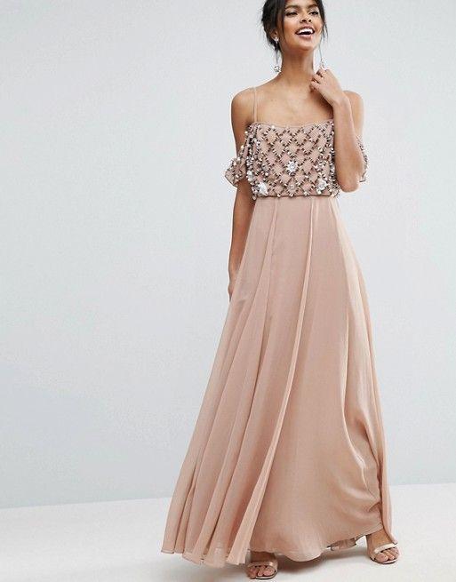f780179a414 Floral Embellished Cold Shoulder Maxi Dress