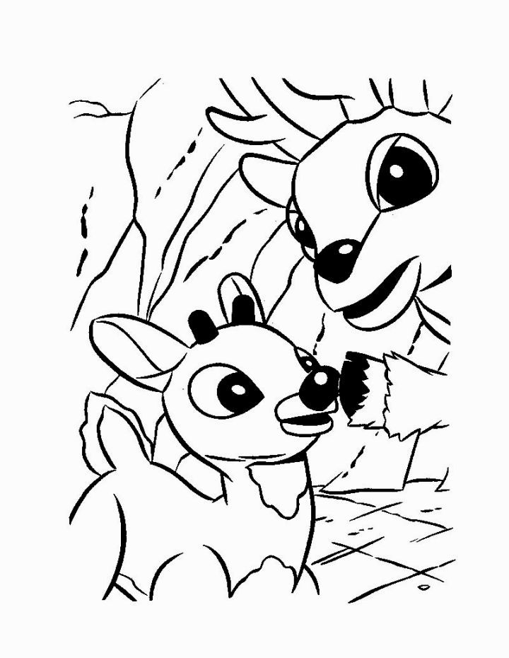 Rudolph The Red Nosed Reindeer Coloring Page | Coloring Pages ...