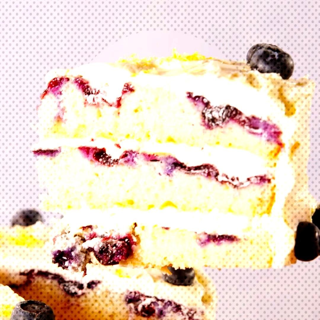 This lemon blueberry cake is the only thing you need to bake this spring. Get the recipe at .