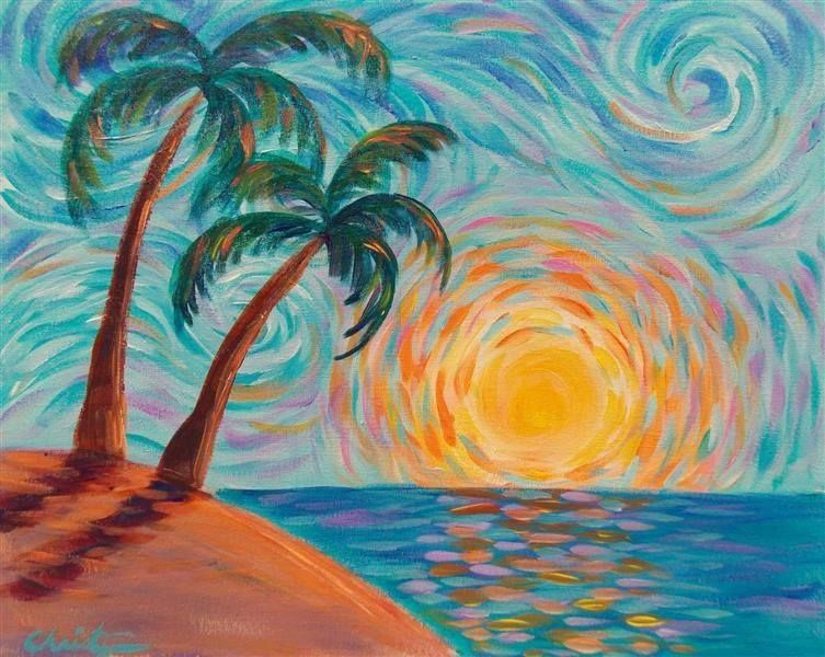 Image Result For Beach Paintings For Beginners Easy Canvas