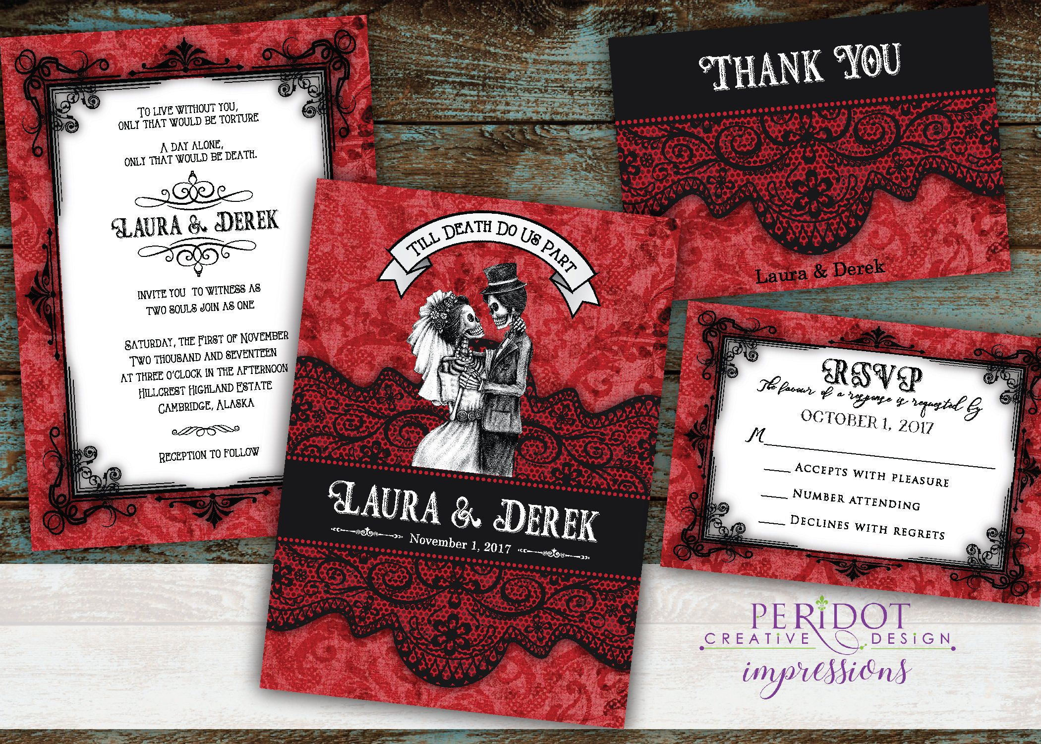 Enchanting Gothic Wedding Invitation Picture Collection - Invitation ...