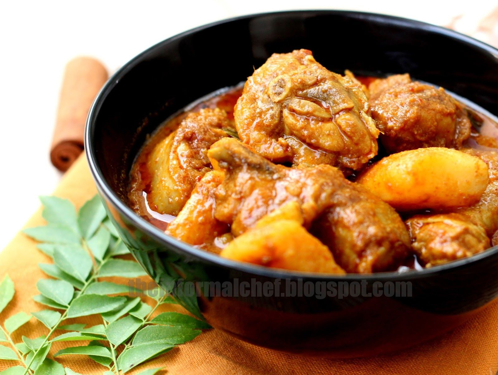 This curry consists of at least 10 different types of ingredients, and a good hour from preparation to sauteeing the curry paste, just to get that paste into its wonderful aroma. The longer you fry, the more aromatic it would be and the better is the curry.