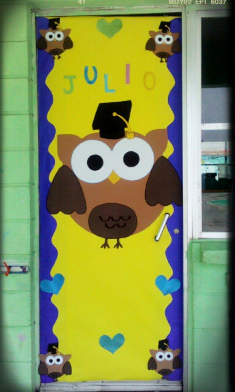 Puerta de julio graduaci n b ho puertas pinterest for Puertas decoradas para regreso a clases