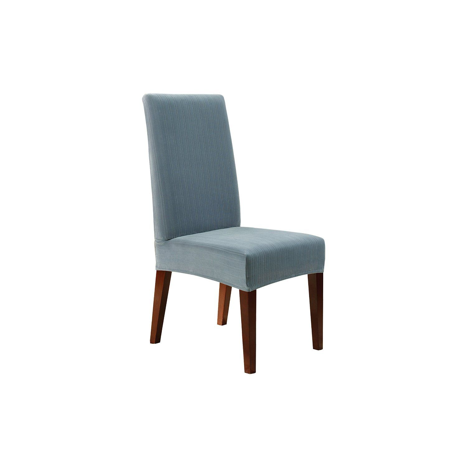 Amazon Com Sure Fit Stretch Pinstripe Short Dining Room Chair
