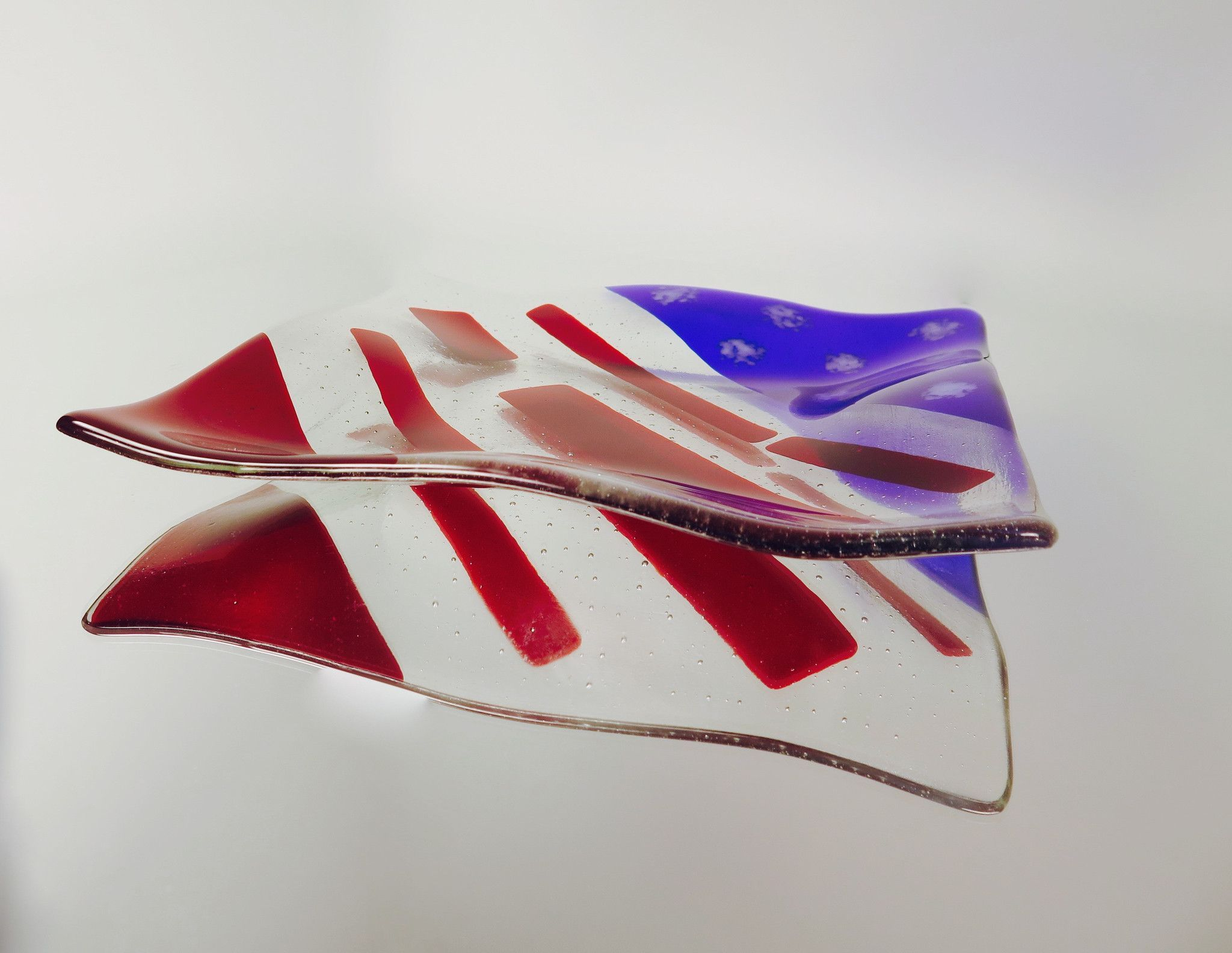 Oh Say Can You See Fused Glass Plate Fused Glass Plates Fused Glass Glass Plates
