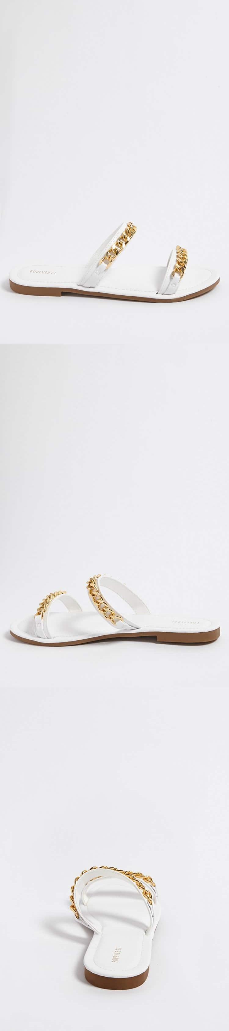 57ecba9955ab56 Curb Chain Sandals    17.90 USD    Forever 21
