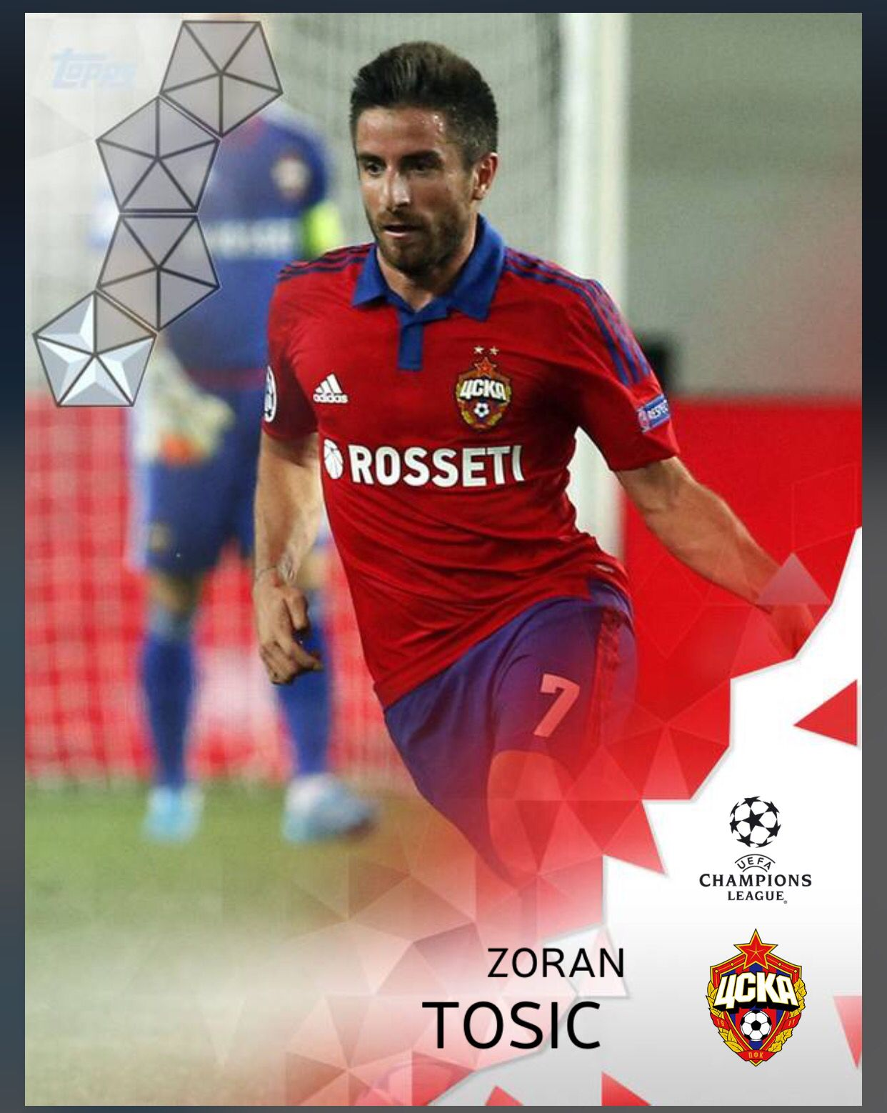 Zoran Tosic CSKA Moscow (UEFA Champions League) Silver