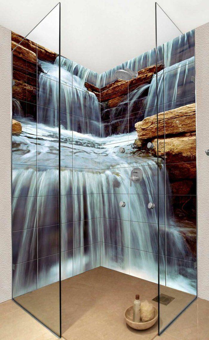 Idee Deco Salle De Bain Pas Cher ~ Quels Stickers Trompe L Oeil Choisir Id Es En 50 Photos Ceiling
