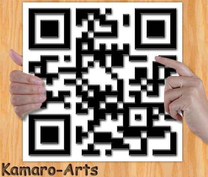 """Digitaldruck - QR-Code """"Ich liebe dich"""" Kunstdruck 21cm x 21cm - ein Designerstück von Kamaro bei DaWanda"""