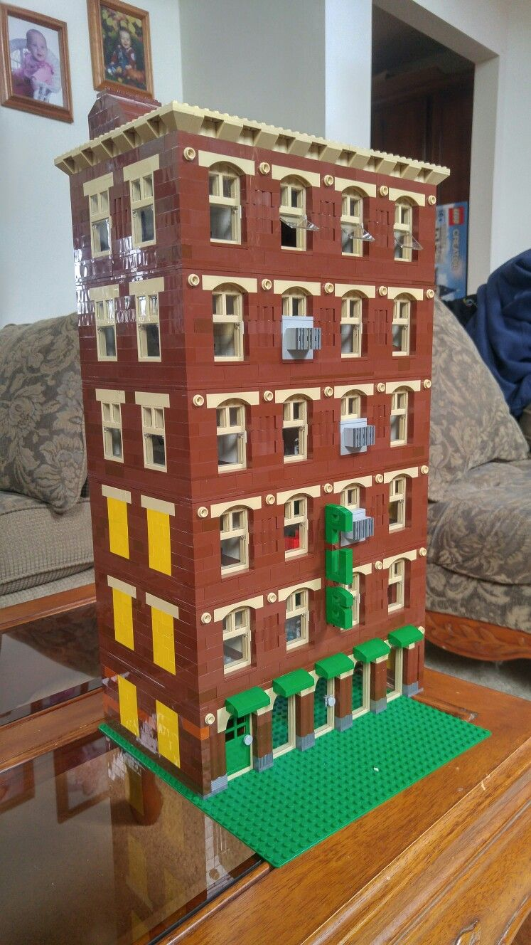 My Lego Apartment Building With First Floor Pub Still Under Construction