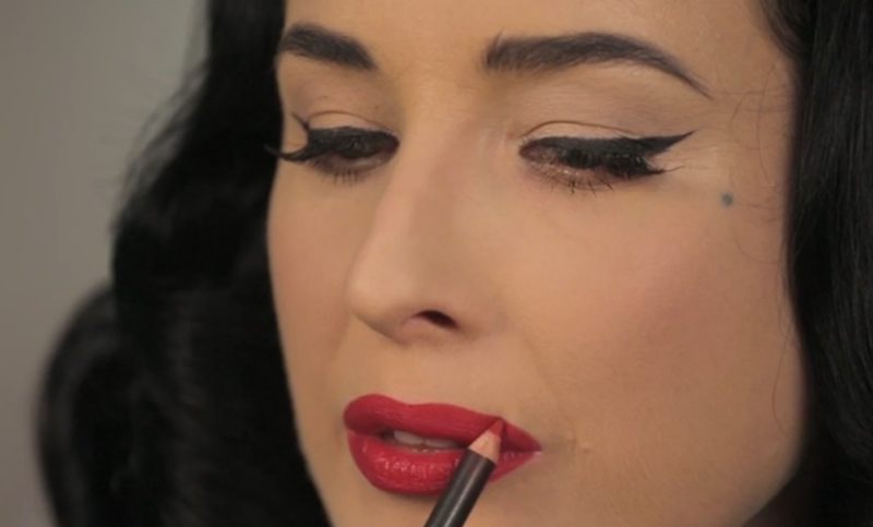 This Dita Von Teese Lipstick Tutorial Is The One Thing