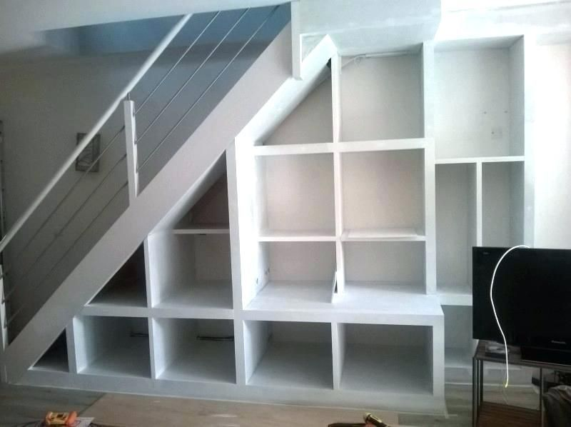 armoire escalier meuble rangement sous escalier affordable awesome rangement sous escalier ikea ...