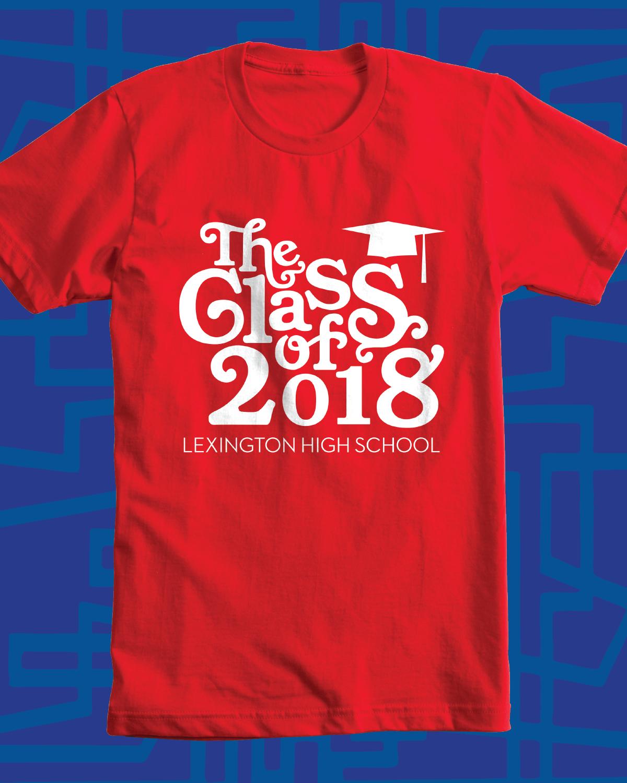 class of 2018 design idea for custom t shirt class shirt school pride - High School T Shirt Design Ideas
