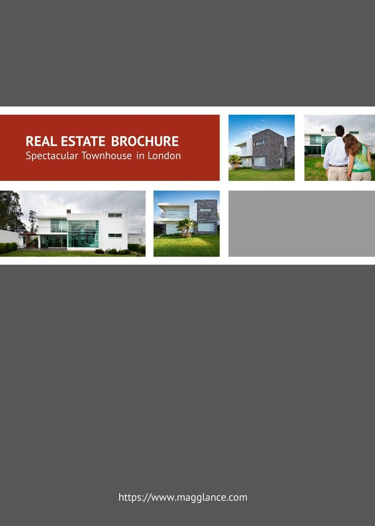 Immobilien Expose Cover, Titelseite Immobilien Expose, Magazin ...