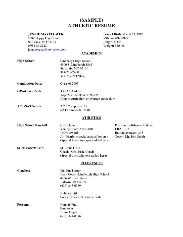 high school senior resume sample scope work template students