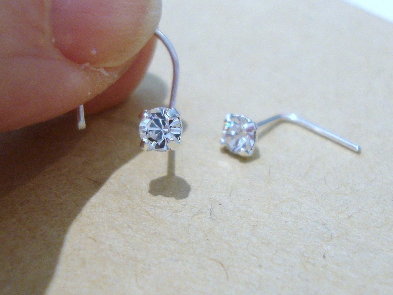 27e4a5306 nose stud...swarovski crystal. | I want! | Nose jewelry, Piercings ...