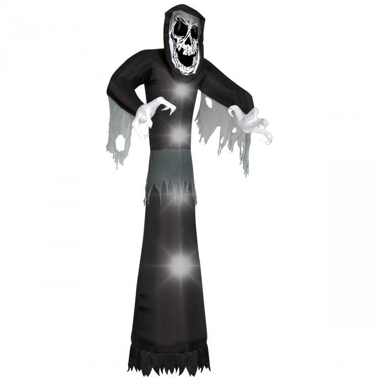 Halloween Inflatable Yard Decor Scary 10 ft Giant Beckoning Reaper - outdoor inflatable halloween decorations