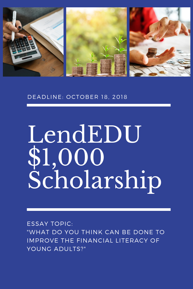 Lendedu Is Giving Away 2 X 1 000 Scholarships To Students With Advice For Teaching Other Young Adults Scholarships For College Scholarships Grants For College