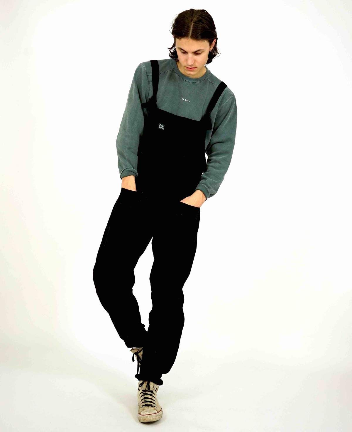 famous designer brand modern and elegant in fashion competitive price Mens 'The Original' Corduroy Dungarees in Midnight Black ...