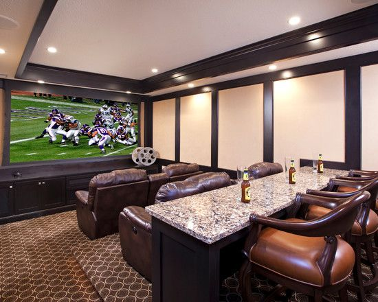 15 Interesting Media Rooms And Theaters With Bars Home Design Lover Home Cinema Room Home Theater Rooms Home Theater Design
