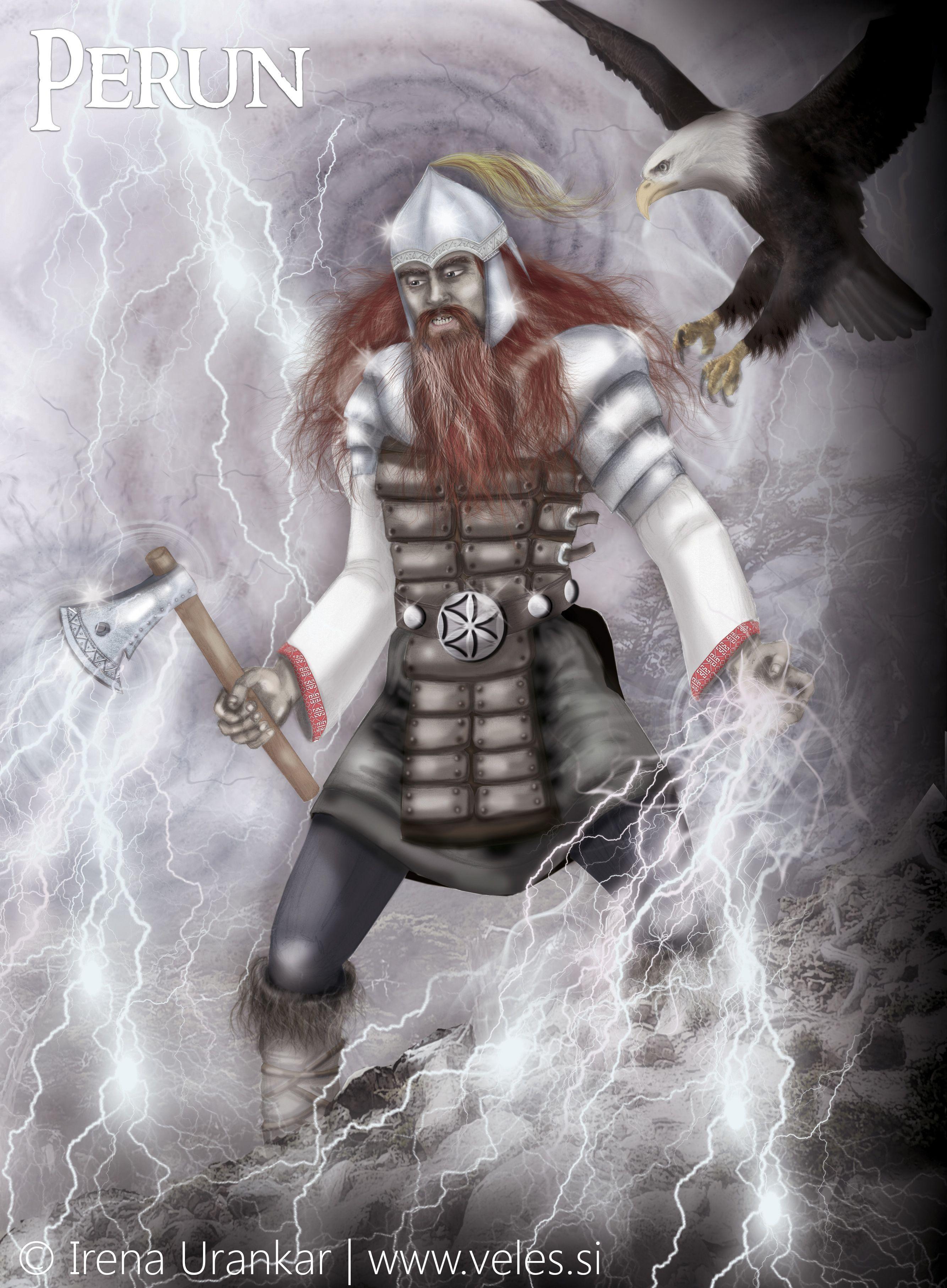 Perun The God Of Justice The Thunder God The Sky Manager He Throws His Thunderbolt To The Ground And M Russian Mythology Mythology Books Slavic Mythology
