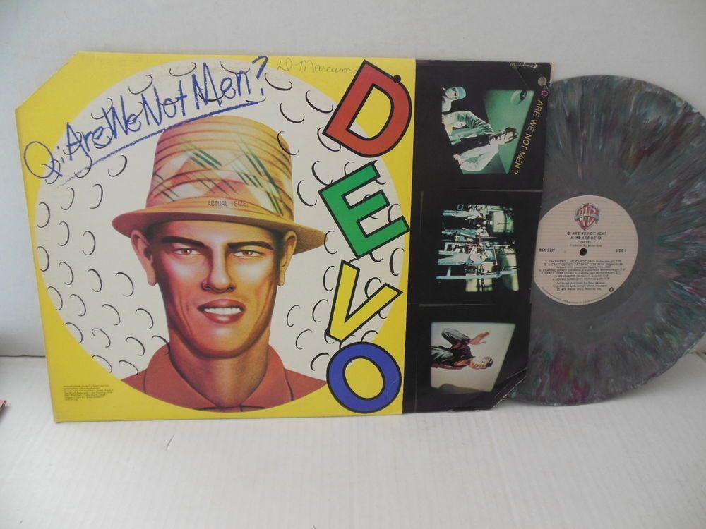 Devo Nr Mint Splatter Marble Color Vinyl Lp Are We Not Men Promo Vinyl Marble Colors Are We Not Men