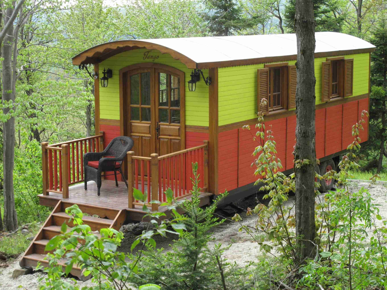 Mini Chalet En Bois roulottes en bois tango | small house, tiny house design