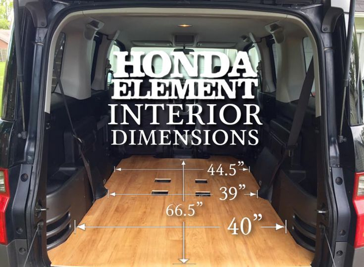 Honda Factor Inside Dimensions Cargo Space Area Area Cargo