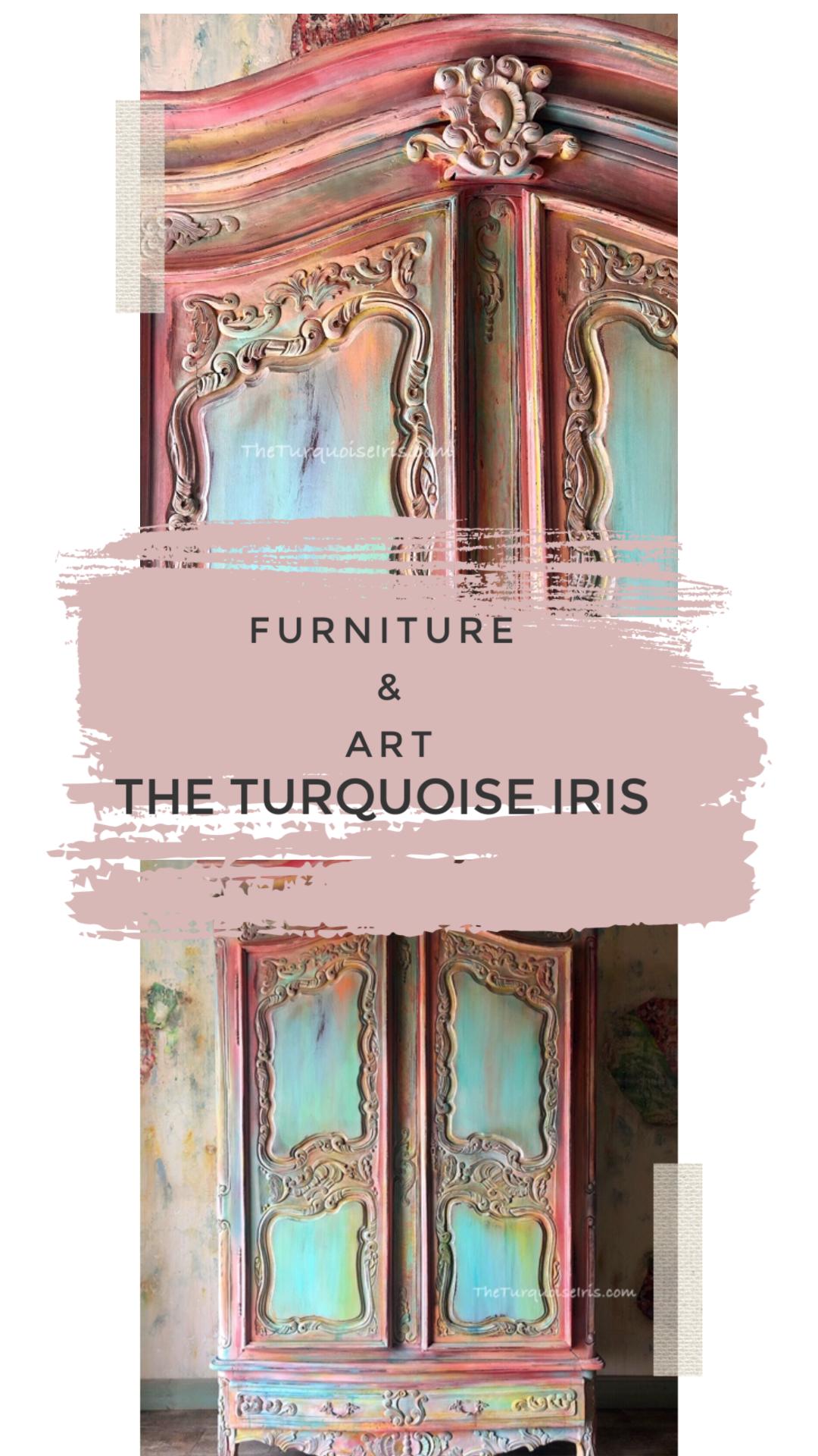 #furniturepainter #furnitureartist #vintagefurniture #paintedfurniture #loveart #oklahomaartist #okcartist #oneofakind #theturquoiseiris #handpainted #claybasedpaint #etsyshop #etsyseller #createallday #creativeentreprenuer #dotheDionne #colormovement #debisdesigndiary #Furniture #Create #paint #DIY