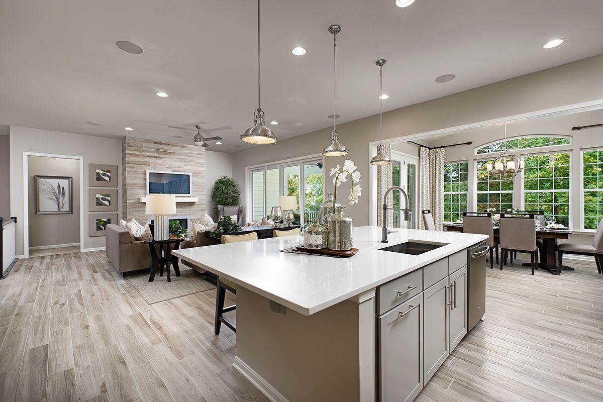 Neutral tones | Decker model home kitchen, sunroom & great ... on Kitchen Model Ideas  id=29647