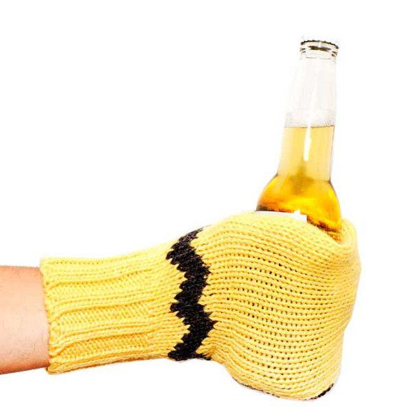 Knit Suzy Mitt :: Yellow Black