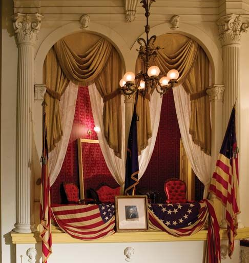 Washington Dc Shooting: The Presidential Box In Ford's Theatre, Where Lincoln Was