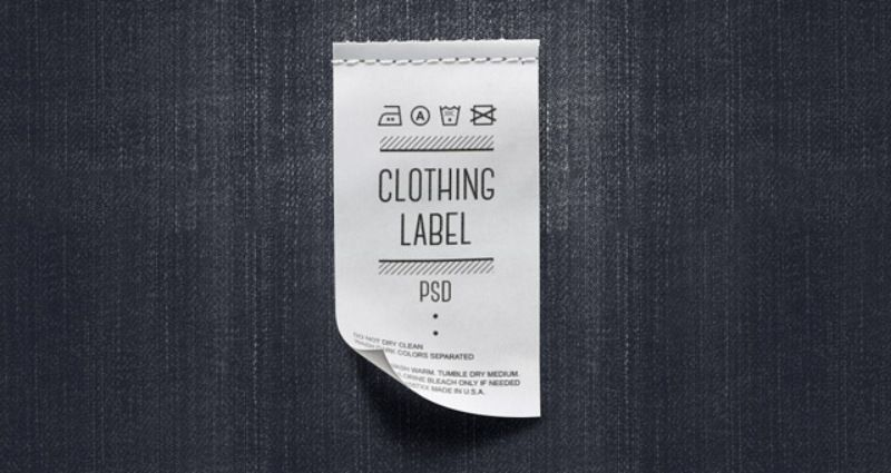 30 Clothing Label Mockup Templates For Apparel Tag Designs Texty Cafe Clothing Labels Clothing Mockup T Shirt Label