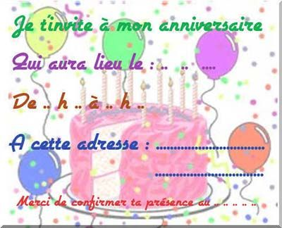 Célèbre je t'invite a mon anniversaire qui aura lieu le mercredi 15  ZJ11