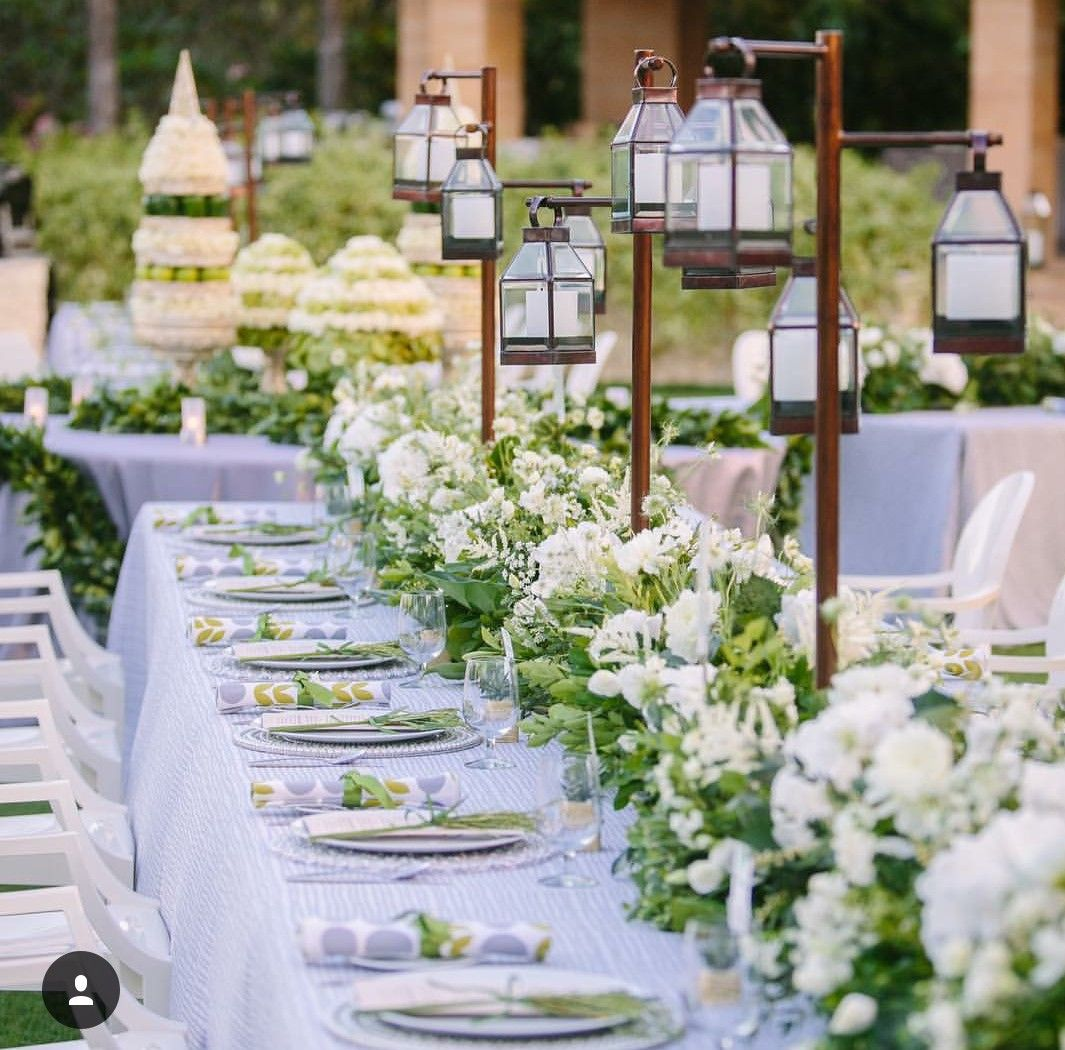 Gorgeous White Wedding Inspiration Bridalguide: Pin By Josie Michelle Events On White, Green And Gold