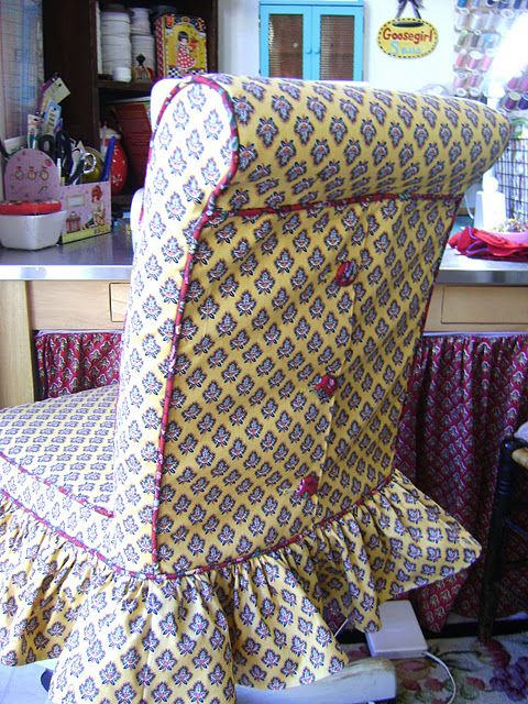 Curved Top Dining Room Chair Covers not so beautiful. but a good example of how to work around a curved