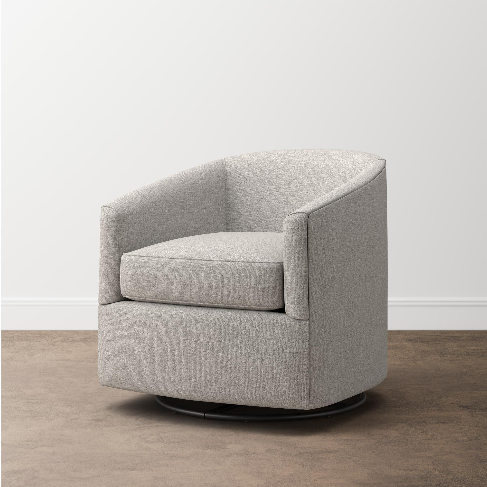 Maxwell Swivel Glider Chair In Multiple Colors Fabric In