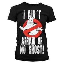 """Ladies """"I Ain't Afraid Of No Ghost!"""" Ghostbusters T-shirt"""