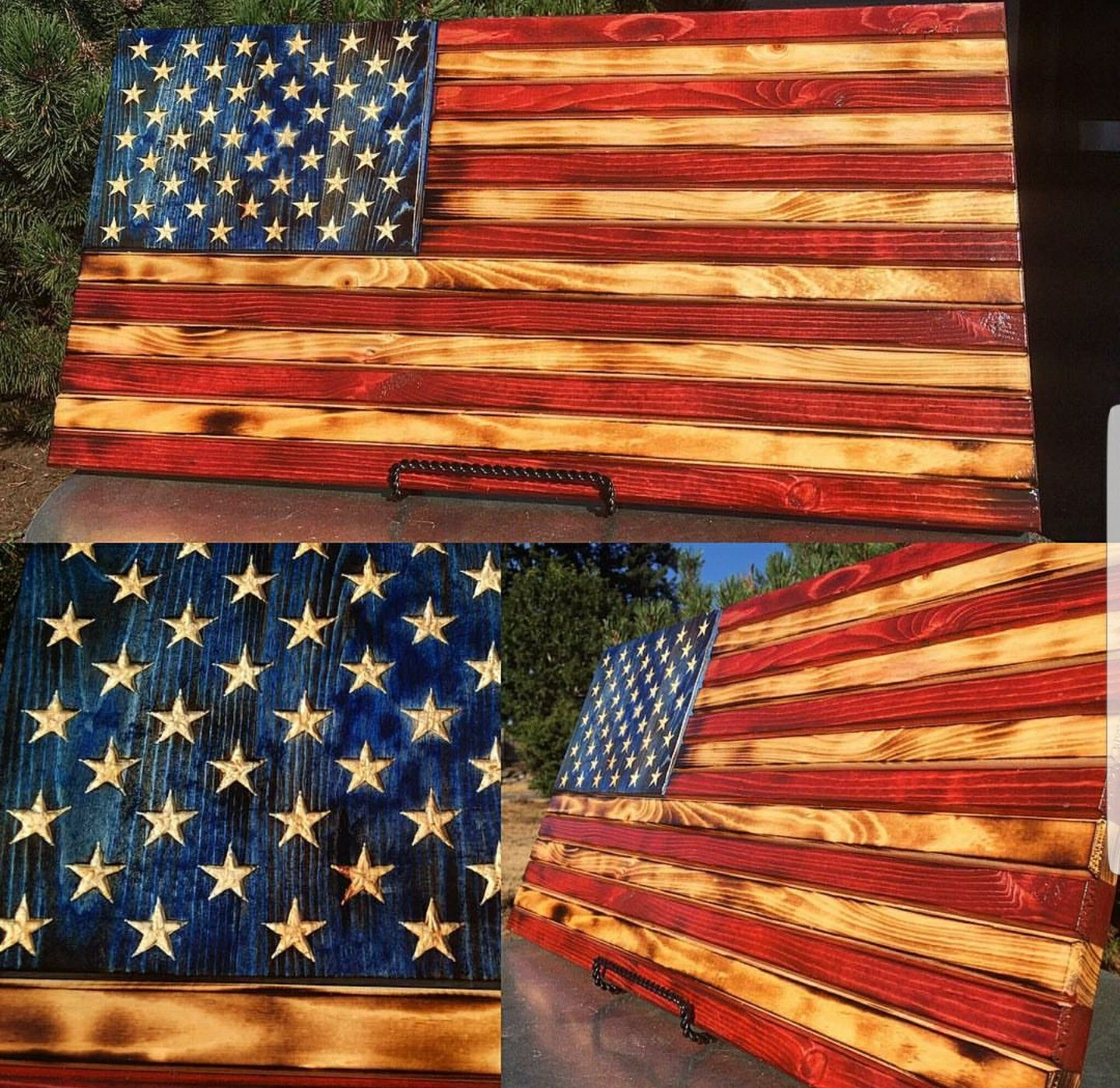 Gorgeous Usa Flag Made From Wood And Dyed With Keda Liquid Dyes Staining Wood Wood Crafts Wooden Crafts