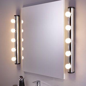 Applique Liz Inspire Sans Ampoule E14 Chrome Eclairage Salle