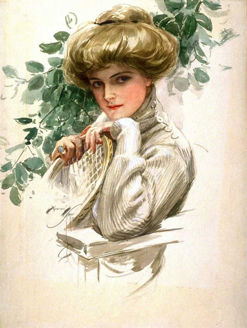 Винтажные открытки женщин