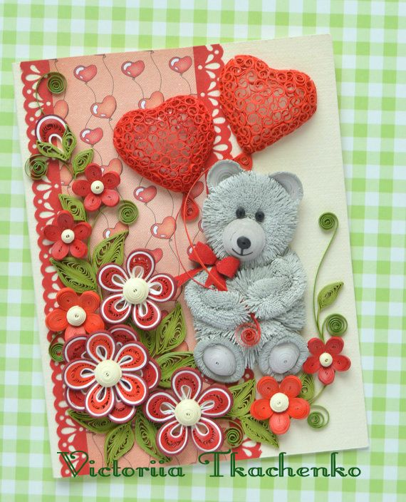 special order for joyce millerreed  3 love quilling card