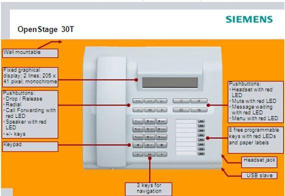 Điện thoại Siemens Openstage 30T THEGIOITONGDAI - NHÀ PHÂN PHỐI CHÍNH THỨC TỔNG ĐÀI SIEMENS Văn phòng công ty: 34/32 Cư xá Lữ Gia, P.15, Q.11, TP Hồ Chí Minh  Hotline : 0903.379.585 - 0968.878.981 Email: info@thegioitongdai.com.vn