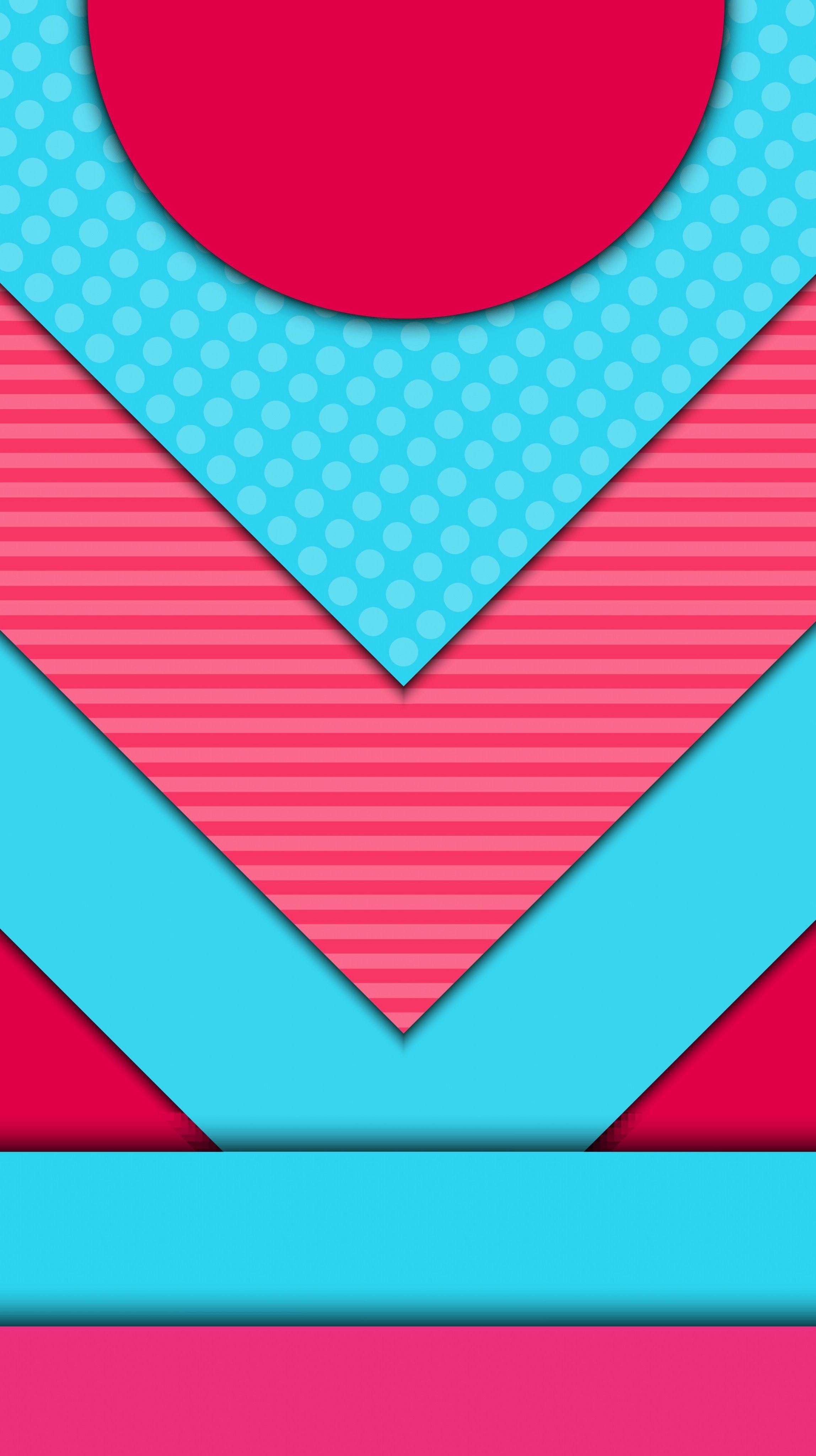 Pink And Aqua Geometric Abstract Wallpaper