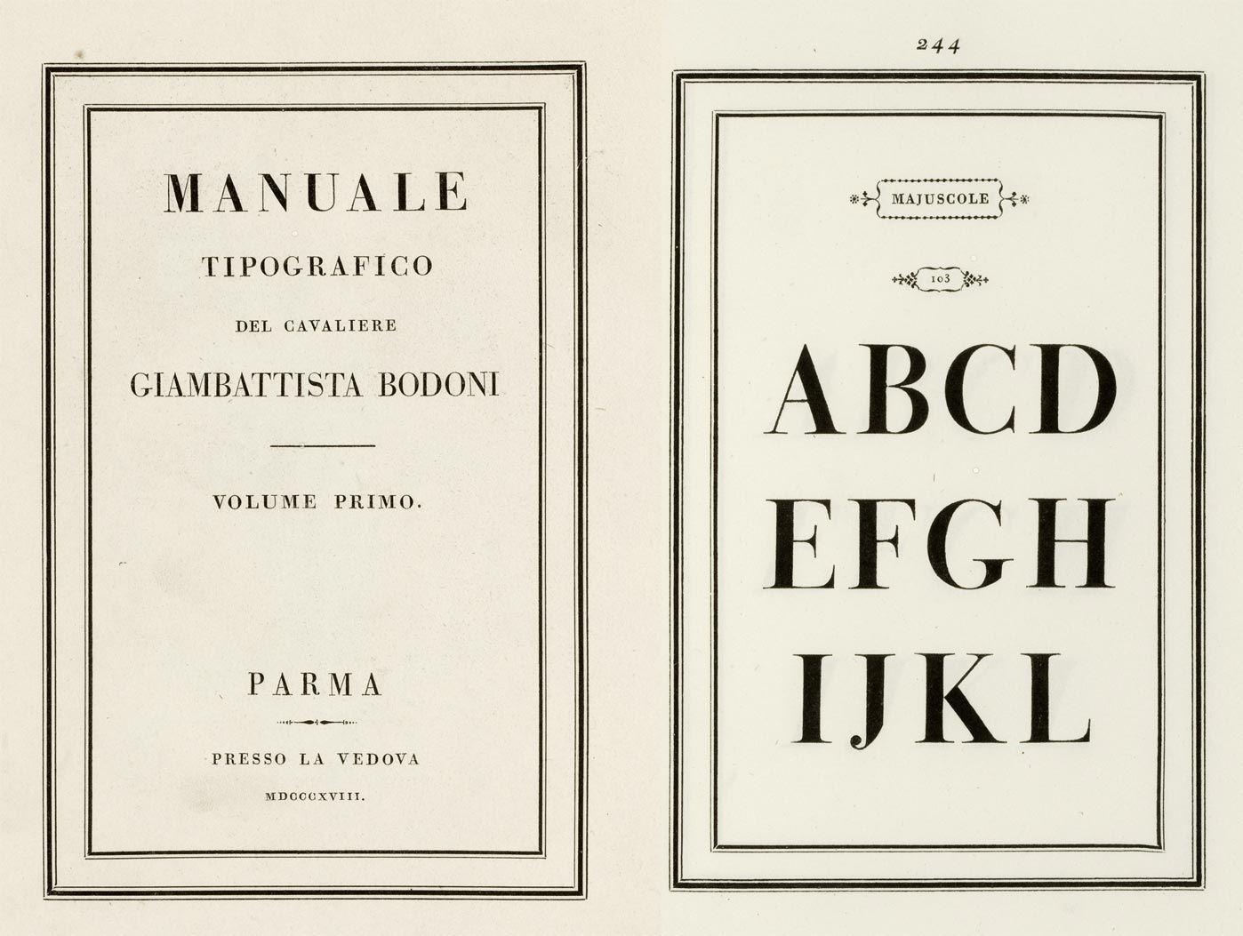 Manuale Tipografico - Giambattista Bodoni
