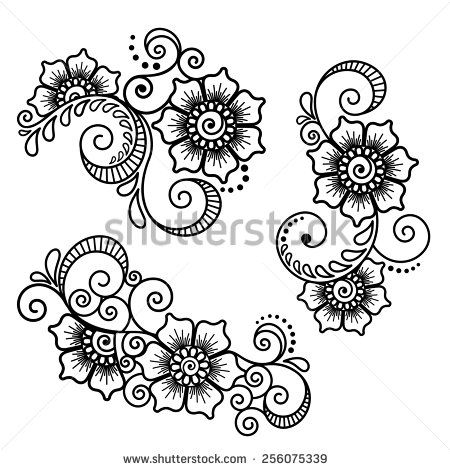 Mehndi Design Stock Vectors \u0026 Vector Clip Art