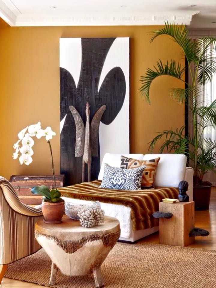 African Living Room Designs Simple Pinpat Albuquerque On Decoração Africana  Pinterest  House Design Ideas