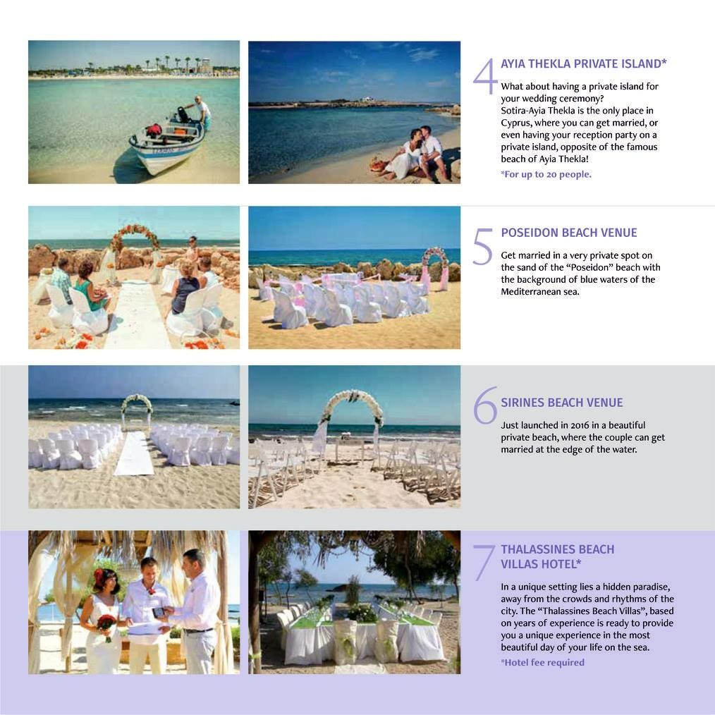 2017 Venues Sotira Ayia Thekla Beach Weddings Cyprus The Only Place For