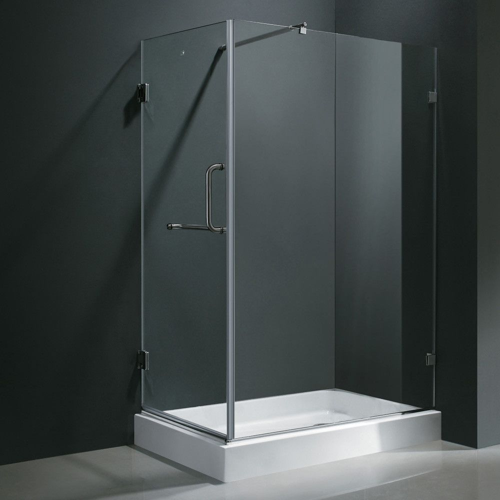 Pacifica 46 X 73 36 Rectangle Pivot Shower Enclosure Frameless